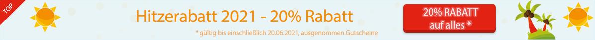 -- 20% Hitzerabatt auf auf alles* --